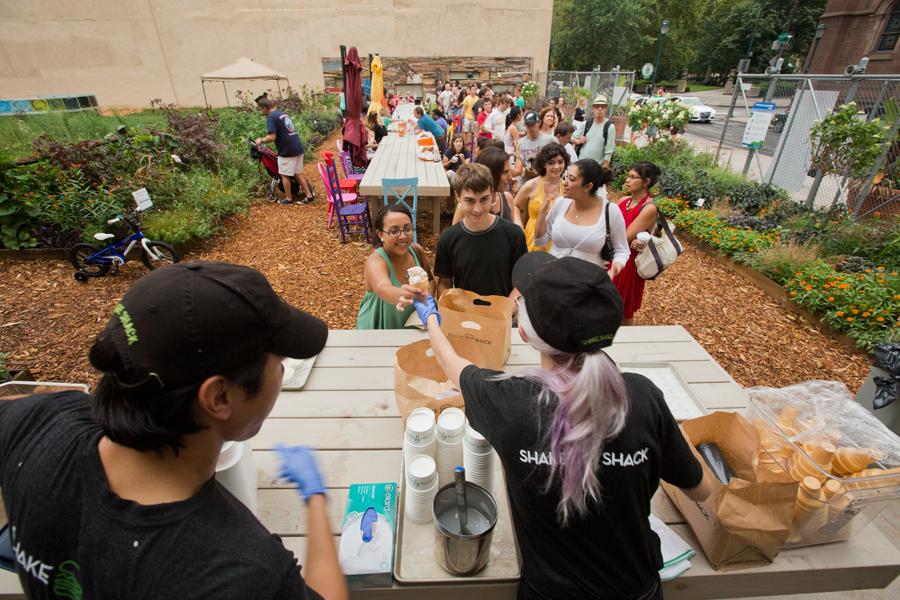 Shake Shack provided free custard at the PHS Pop-Up Garden on August 11.