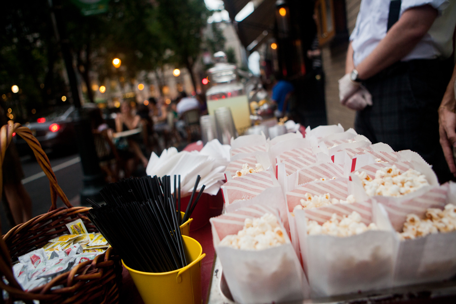 """Rouge provided free popcorn to movie-goers at the uwisunu.com """"Moonlit Movie"""" on August 11."""