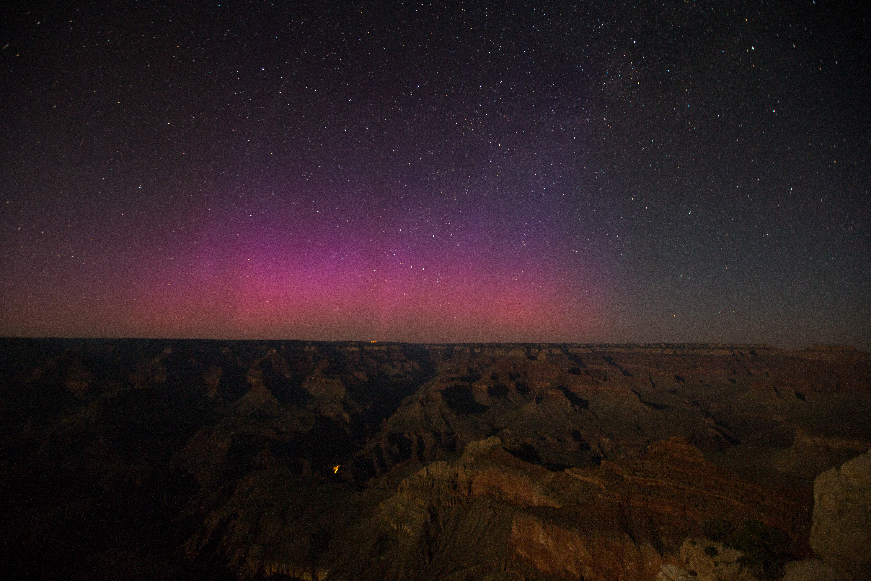 Grand Canyon Aurora Borealis